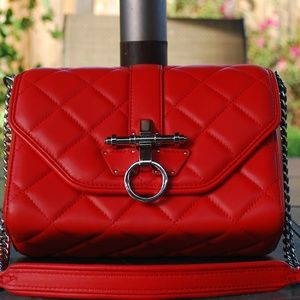 Givenchy Red Obsedia Lamb Skin Leather bag